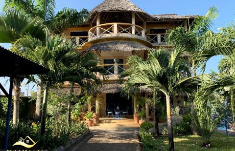A MAGNIFICENT FURNISHED VILLA (2nd row from the beach) FOR SALE ALONG BAMBURI BEACH